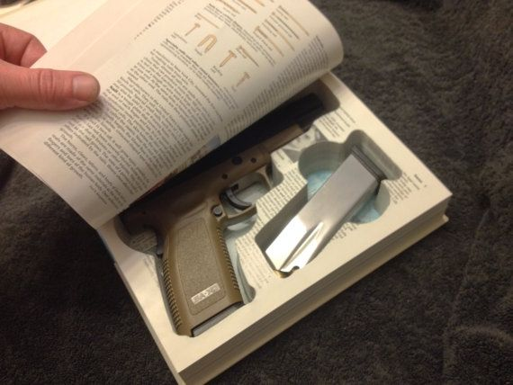 Book Safe for Springfield Armory XD Series  45 ACP or 9mm 4