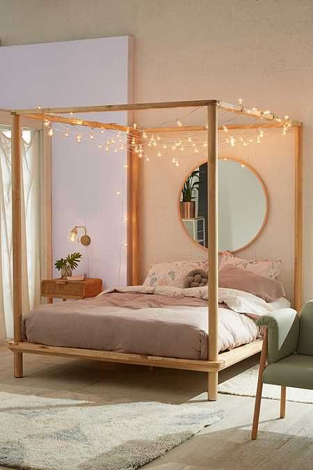 Eva Wooden Canopy Bed Wooden canopy Canopy beds and Canopies