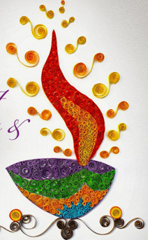 Pin By Indian Tradition On Handmade Greeting Cards Diwali Craft