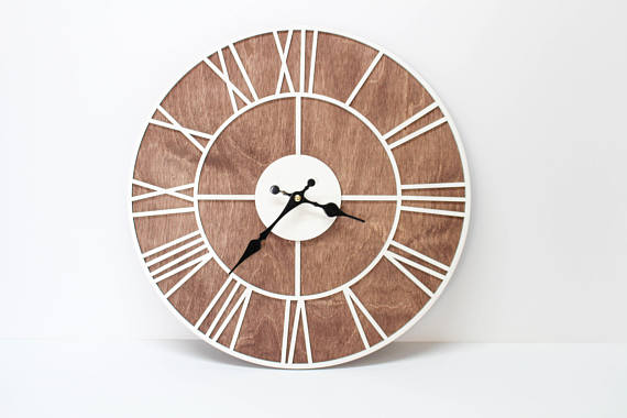 High Quality This Is Awesome Roman Wood Wall Clock, Beautiful Gift For Your Home!    Diameter