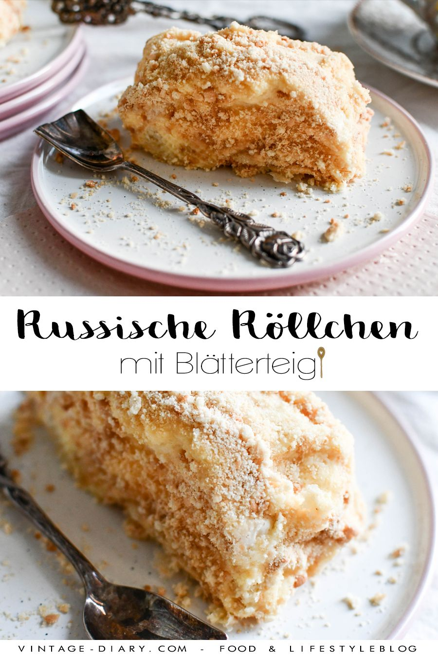 Photo of Russian puff pastry rolls – vintage diary