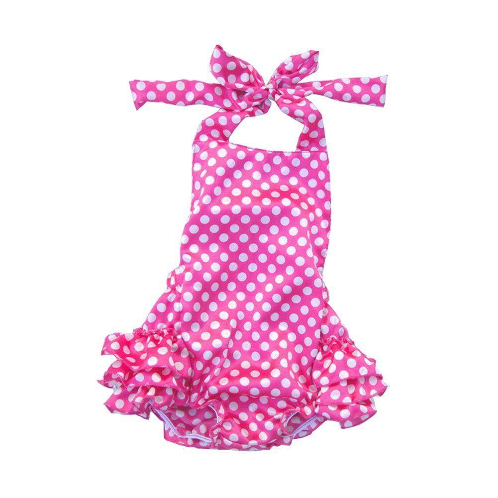 4dcf66e0cd56 Amazon.com  Lisianthus Baby Girls  Ruffles Romper Dress Summer Clothing   Clothing https