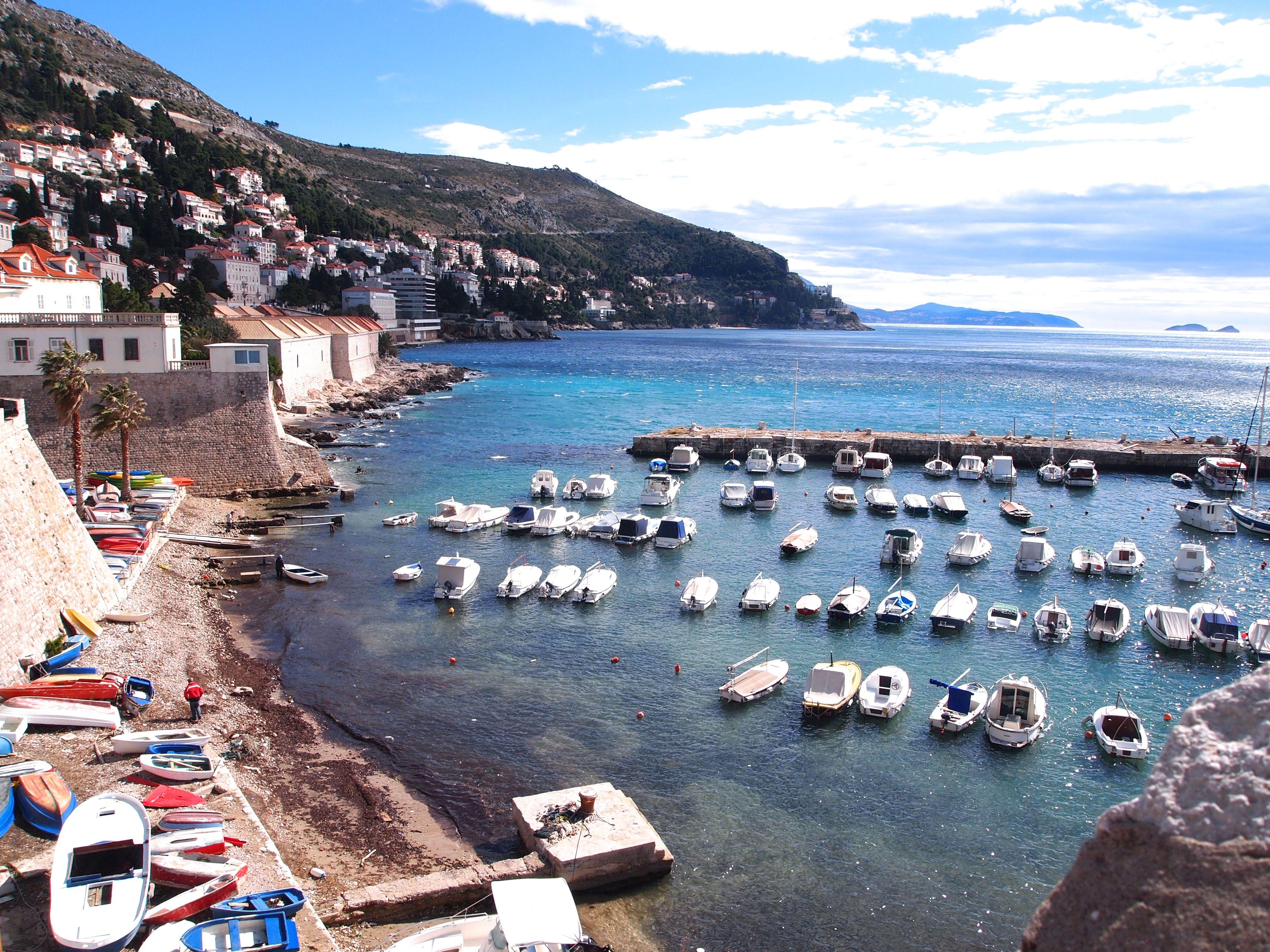 Harbor at Dubrovnik, Croatia