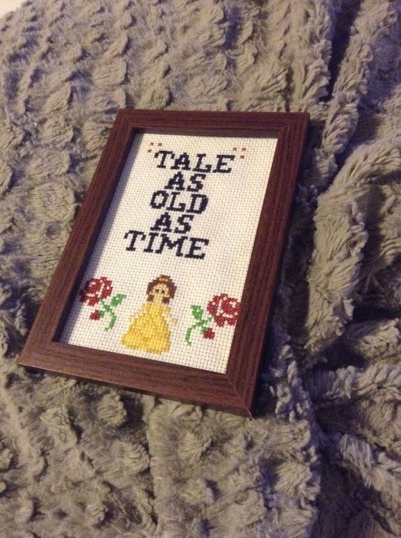 Super cute beauty and the beast cross stitch frame . Tale as old as ...