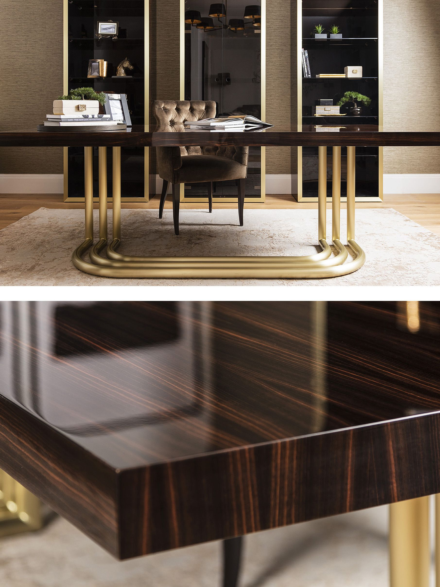 WILLIAM LUXURY HOME OFFICE DESK. A statement desk with a ...