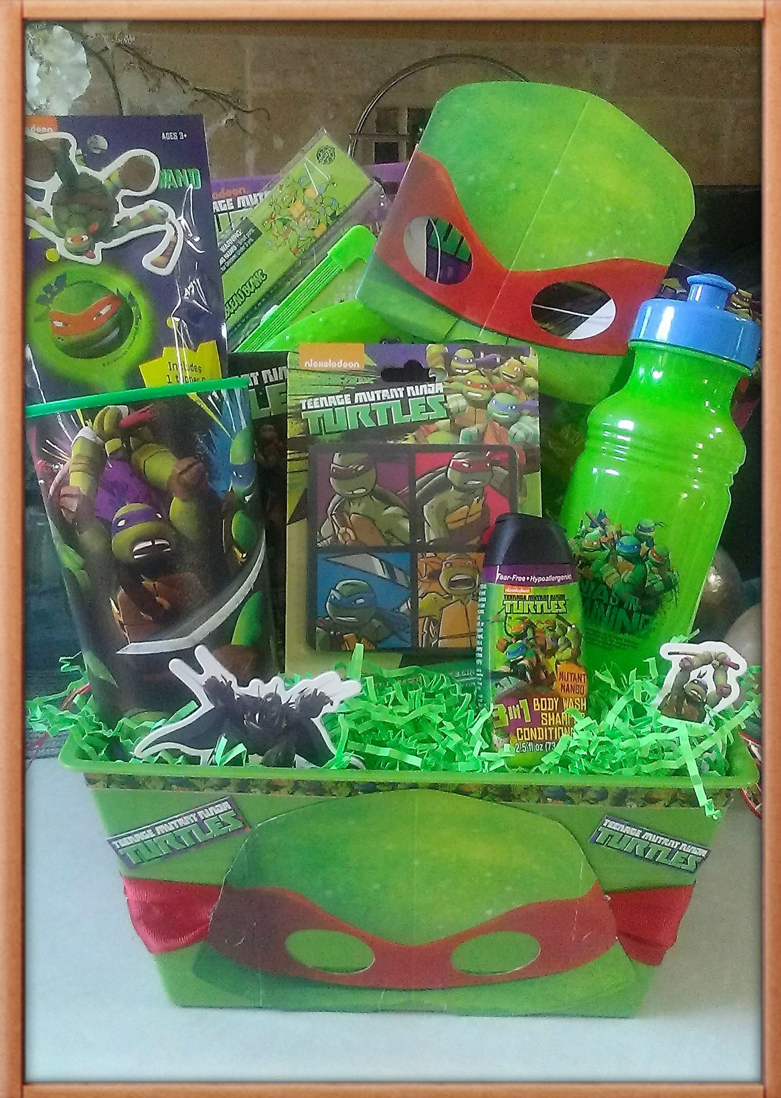 ninja turtle gift basket made by norma's unique gift… | all retail