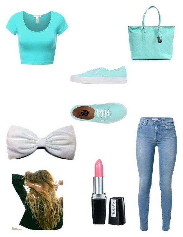 """""""It's my blue day"""" by kennedy-bernard ❤ liked on Polyvore featuring 7 For All Mankind, Vans, Longchamp, Isadora and Lulu DK"""
