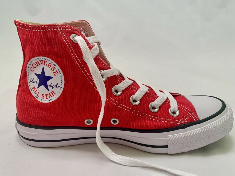 Converse High Top Sneakers Red Size Men's 5, Women's 7 New