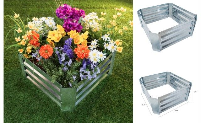 Group Buy Offer Starting At 15 99 For Galvanized Steel Raised Garden Bed Raised Garden Beds Raised Garden Plant Holders