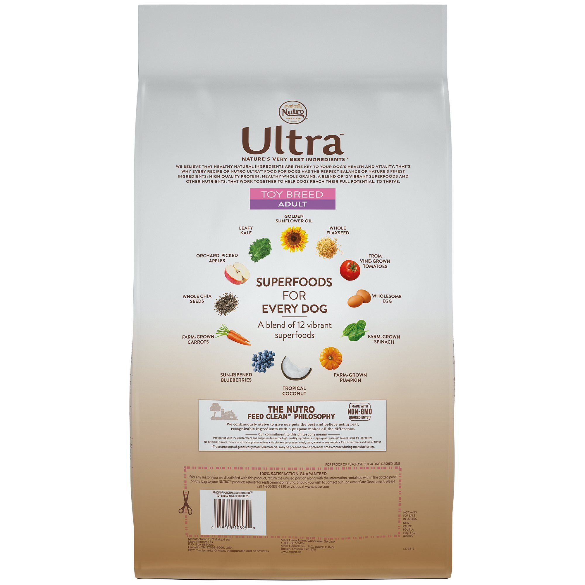 Nutro ultra toy breed adult dry dog food 1 8 lbs
