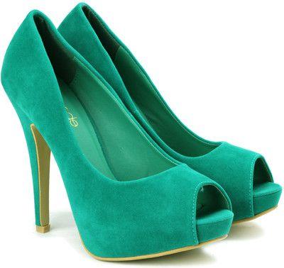 532556bc390d Tresmode Kolpeep Heels – Buy Green Color Tresmode Kolpeep Heels Online at  Best Price – Shop Online for Footwears in India