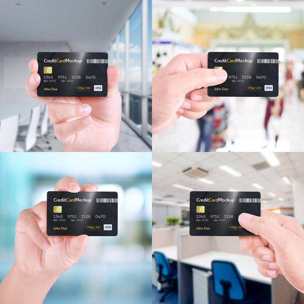 Hand+Holding+Credit+Card+Mockup+Free+PSD Mockup cartão