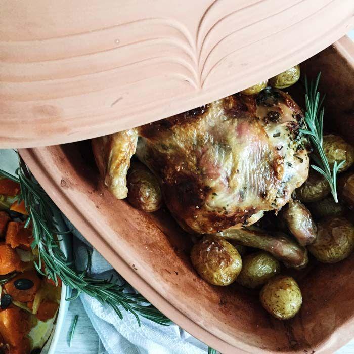 Kylling i Römertopf – skøn opskrift med rosmarin