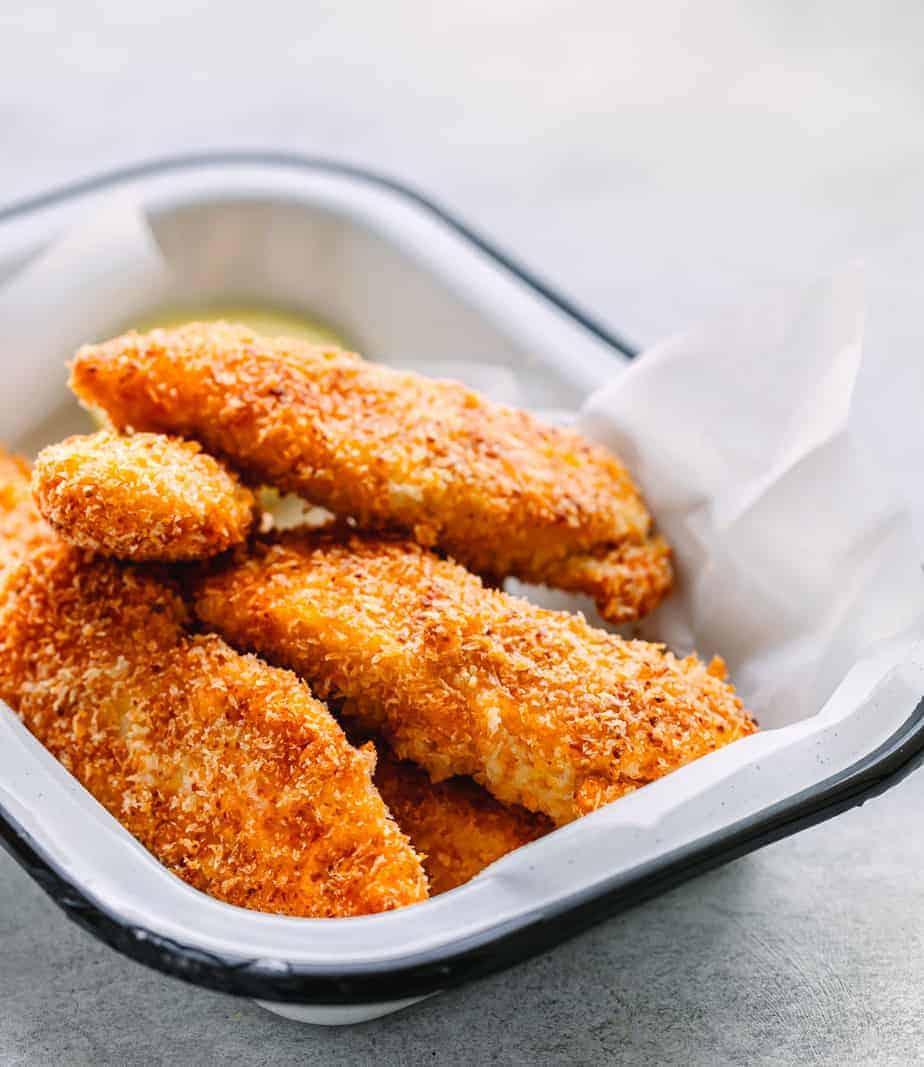 The Best Way To Cook Chicken Tenderloins Aka Chicken Strips Is In The Oven They Get So In 2021 Baked Chicken Strips Chicken Tenderloin Recipes Baked Chicken Tenders