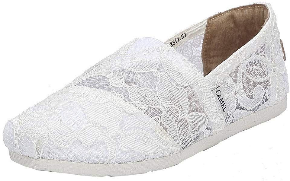 d6a1945eca16e Amazon.com | Camel Women's Slip on Shoes Classic Casual Flats Mesh ...