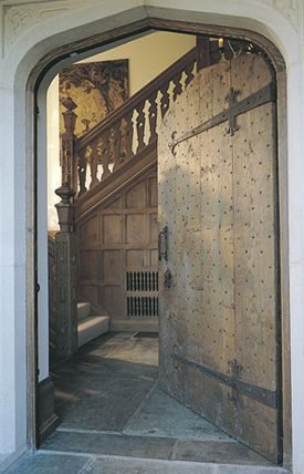 Tudor Arch Exterior Door in English Oak - Wonderful door hinges and nailed front.  & Tudor Arch Exterior Door in English Oak - Wonderful door hinges ... pezcame.com