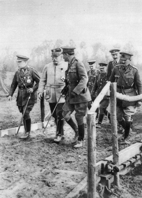 French, Joffre, and Haig depicted at the front in 1915