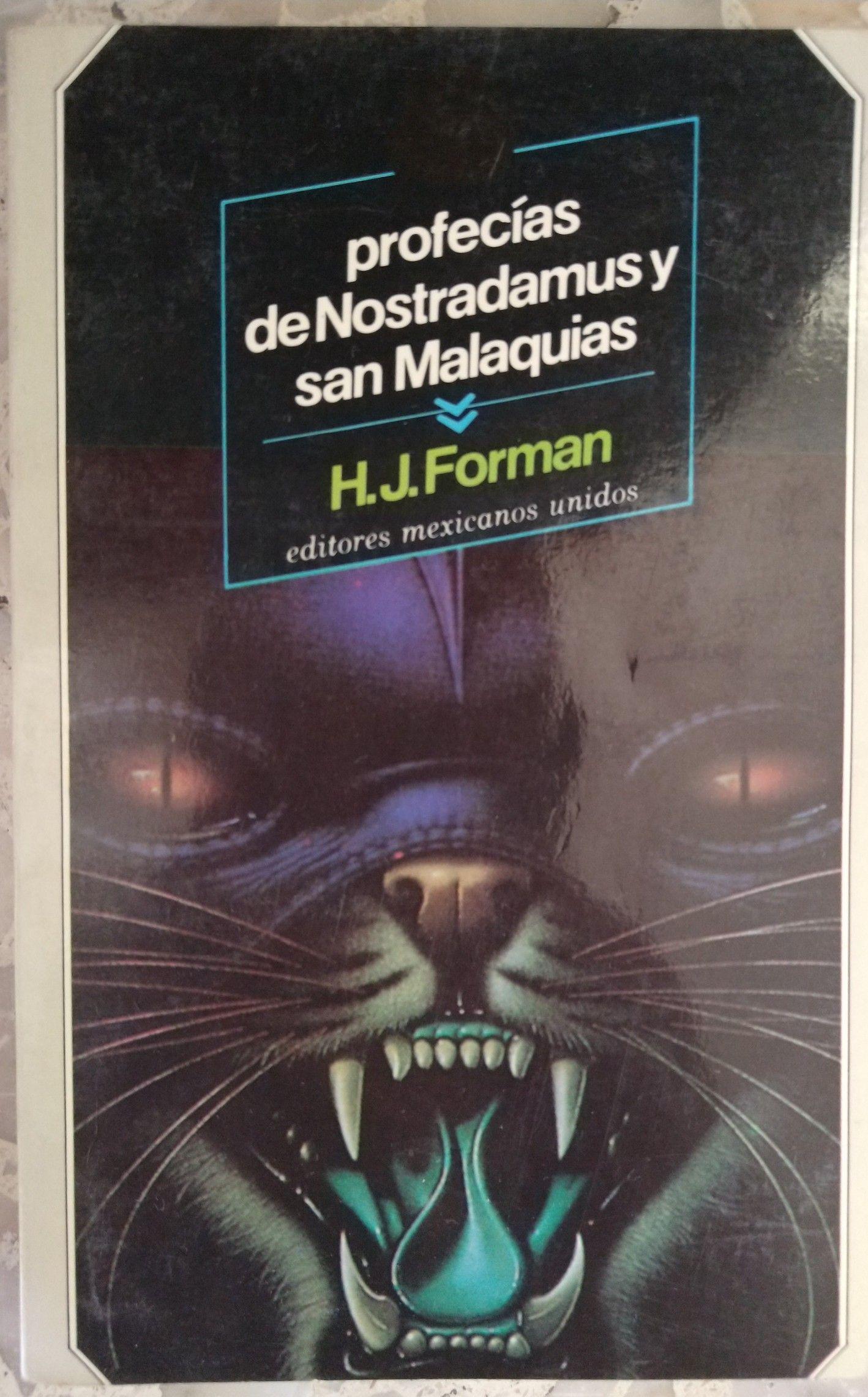 Profecías De Nostradamus Y San Malaquías Malaquías Biblioteca