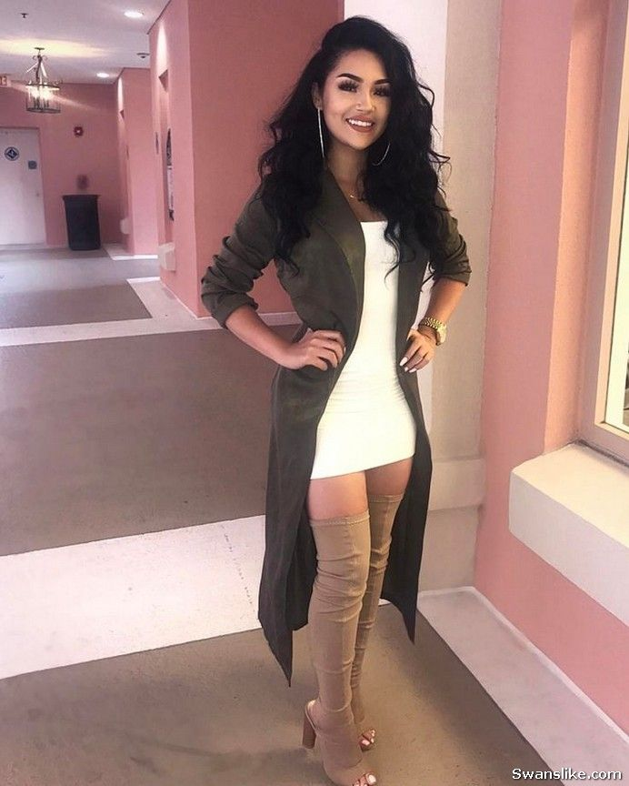 How to wear Thigh High Boots Outfit -  Boots  Fashion  HighBoots  Fall   WinterOutfits (6) 8c81df676