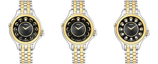 Fendi Timepieces Women's Swiss Crazy Carats Two-Tone 18K Gold-Plated Stainless Steel Bracelet Watch 38mm F107131000T07