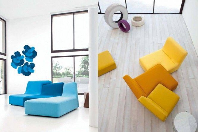 Luxuswohnzimmer von Ligne Roset Pinterest Blue couches, Living