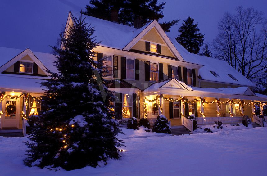 christmas in vermont images | AJ1098, Vermont, Woodstock, B&B, inn ...