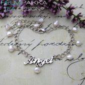 Angel valkoinen #nilkkakoru #kesäkoru #kaunis