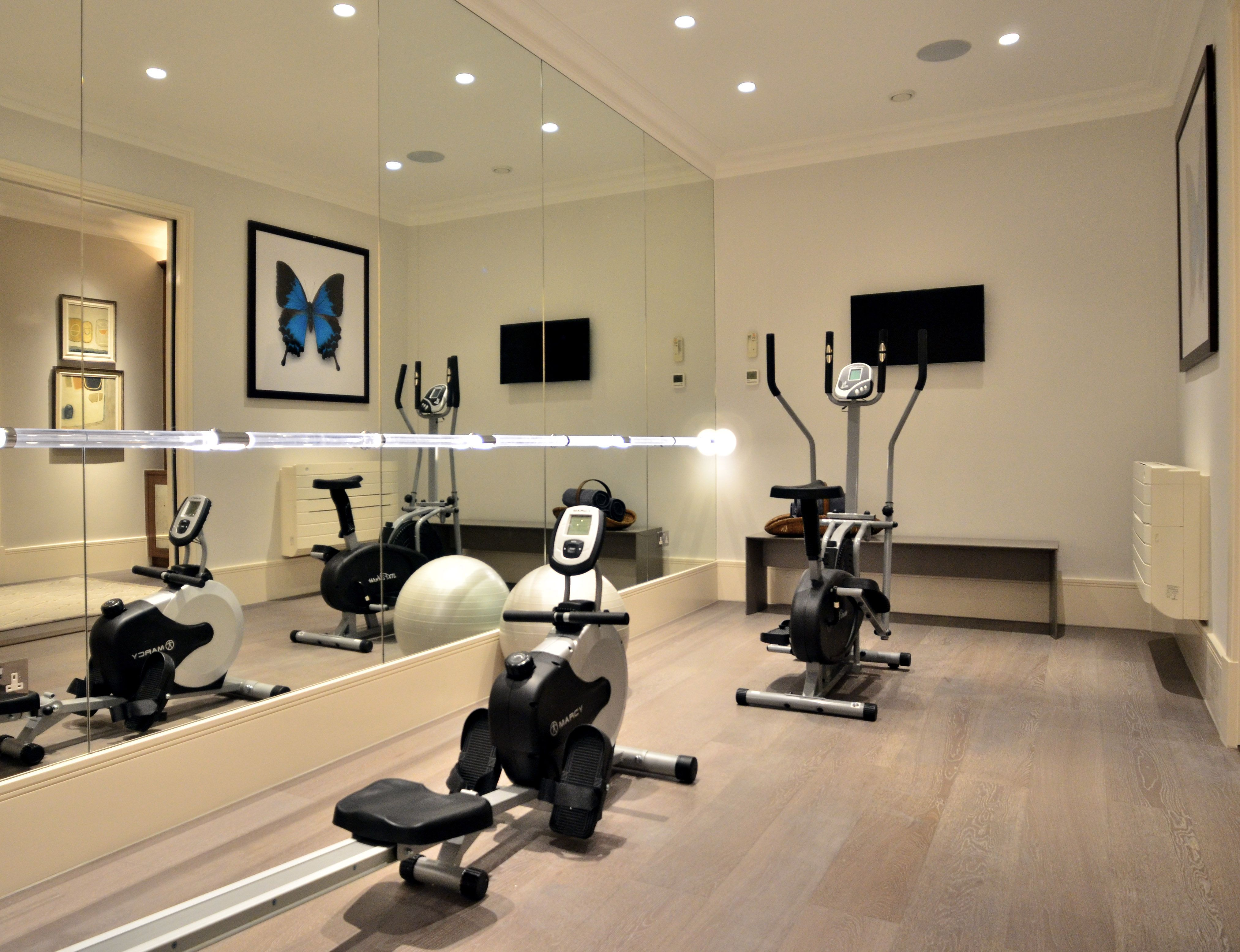 Private home gym fitted with HVAC by