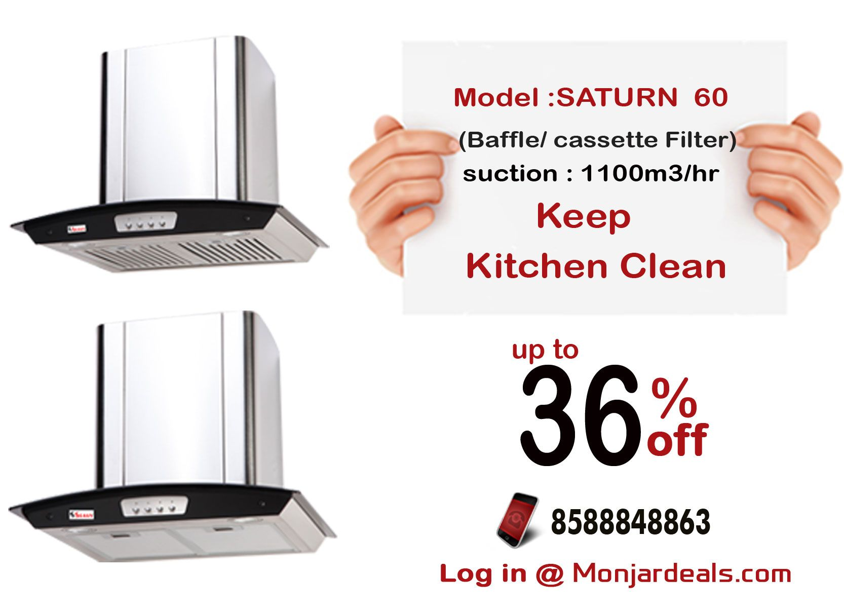 Offers on #seavy saturn 60 #kitchen #chimney #delhincr #india ...