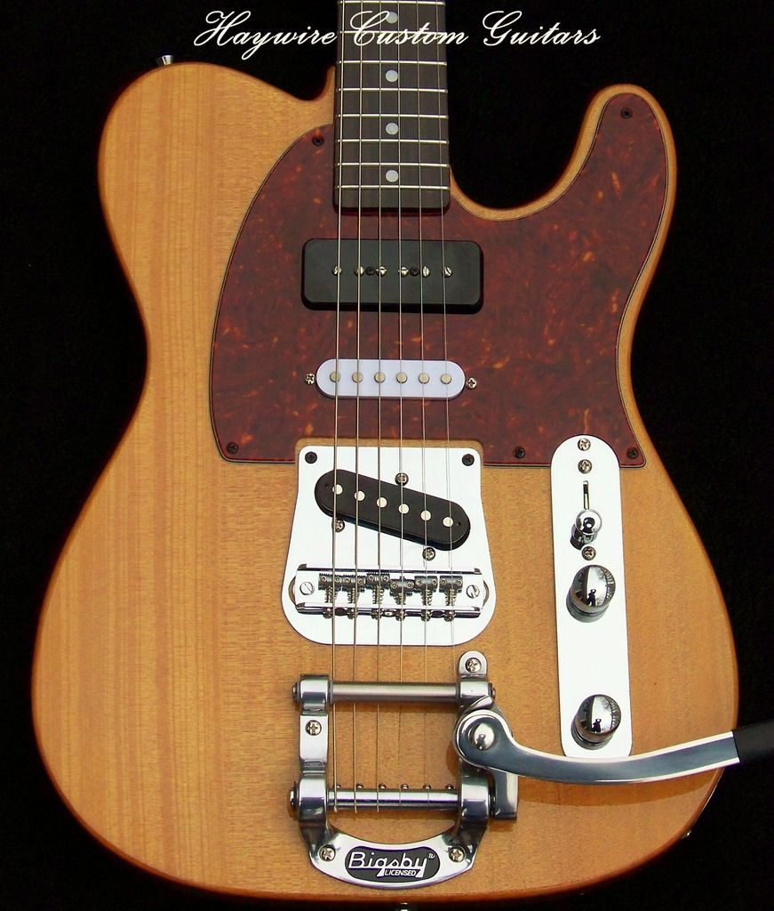 Awesome Pit Bike Wiring Tall Hss Strat Wiring Flat 2 Humbuckers In Series 3 Way Switch Guitar Youthful Wiring Diagram For Furnace BrownGuitar 5 Way Switch Haywire Custom Guitars Mahog P90 Tele Bigsby1 | Telecaster Neck ..