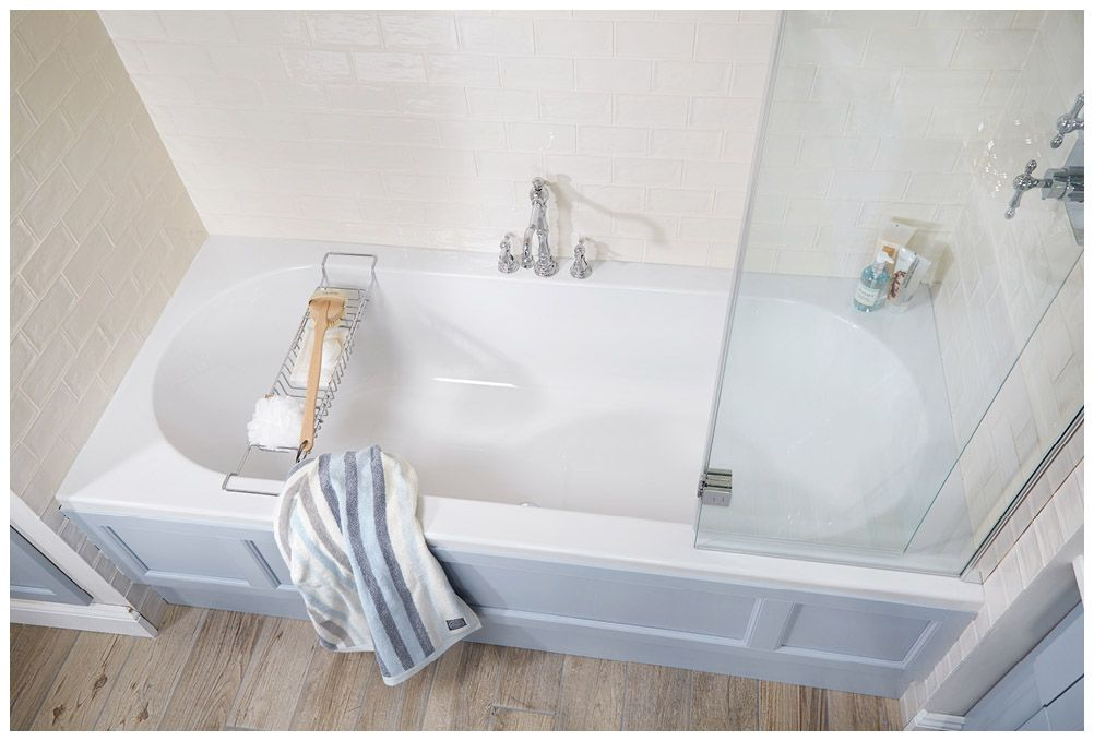 The double-ended roundelle bath with deluxe side panel in Blue ...