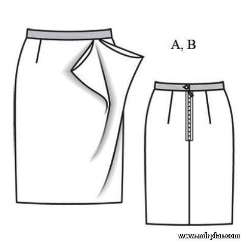 Готовые выкройки платьев и юбок