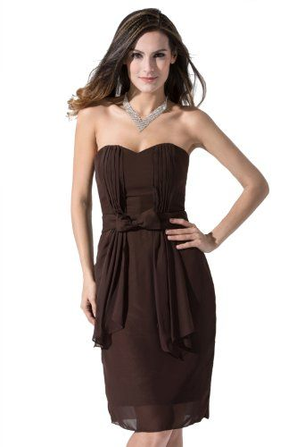 Chocolate Chiffon Bridesmaid Dress Bridesmaid Dresses 2014