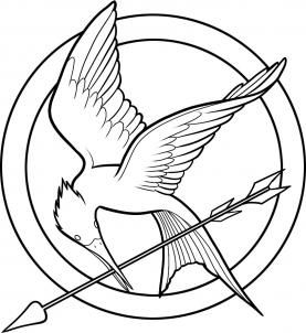 hunger games printable coloring pages | how to draw hunger games, the hunger games logo step 7 ...