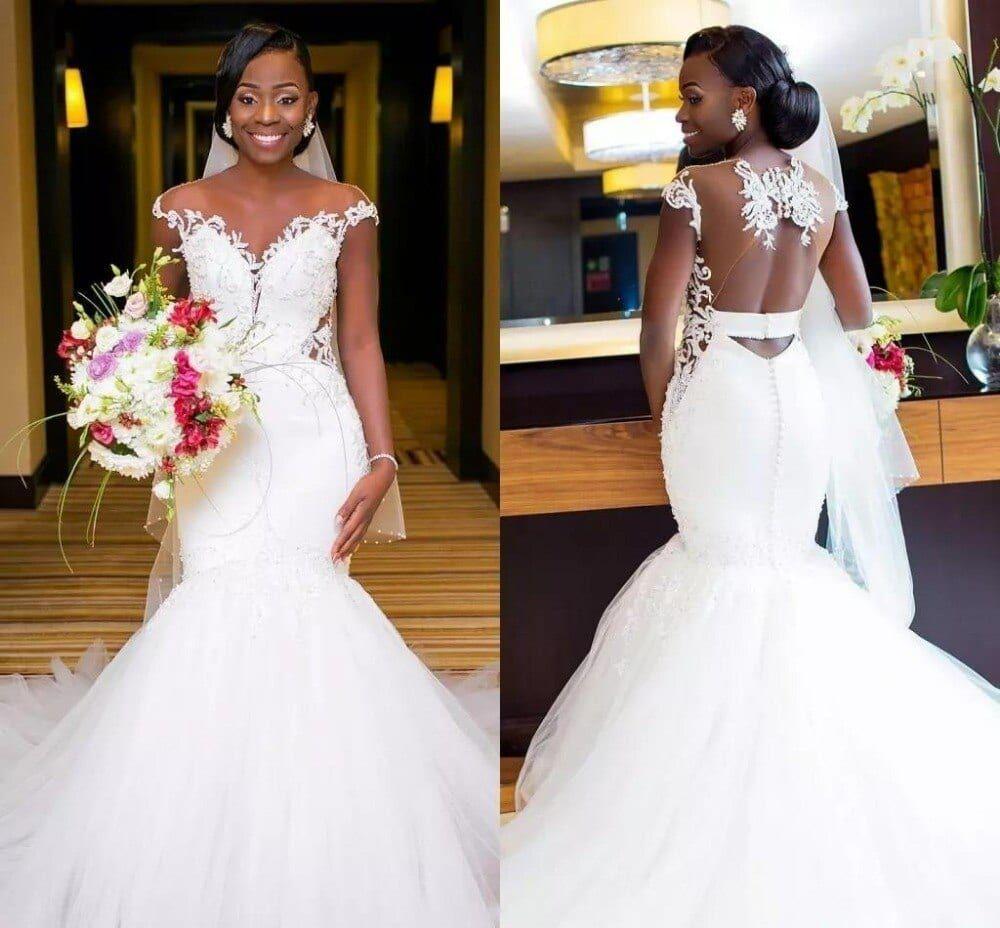 Illusion Back Mermaid Wedding Dresses Darius Collection Sheer Wedding Dress Bridal Gowns Mermaid Black Wedding Dresses [ 928 x 1000 Pixel ]