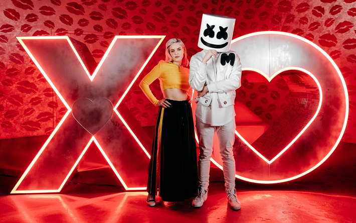 Download Wallpapers Anne Marie And Marshmello 4k Superstars Anne Marie Marshmello Anne Marie Rose Nicholson Marshmello Dj Besthqwallpapers Com Anne Marie Album Anne Maria Music Coloring