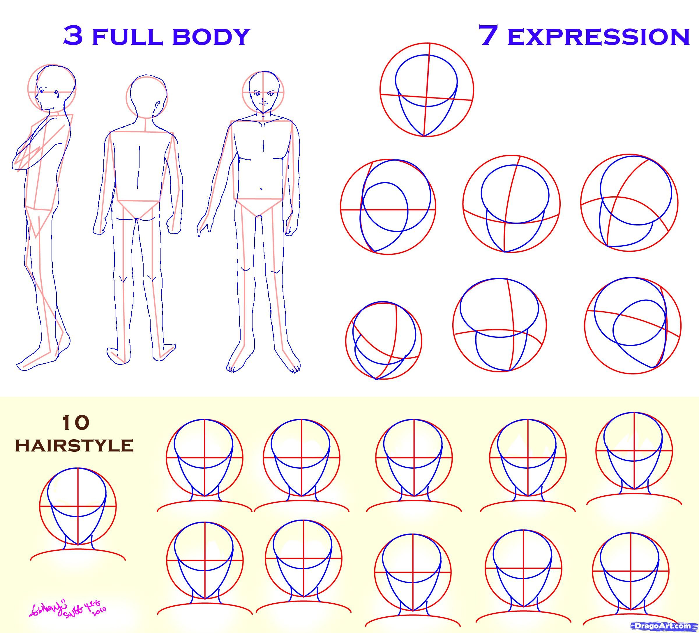 Outstanding How To Draw Anime Characters Male Solution For How To For Dummies Short Hairstyles Gunalazisus
