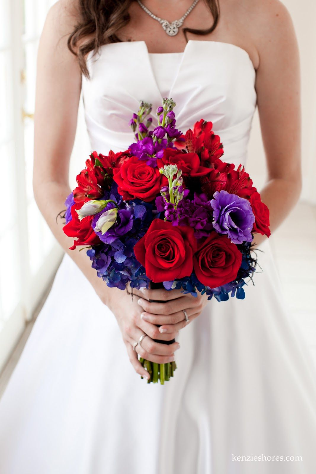 blue purple and red bouquet - Google Search | Wedding ...