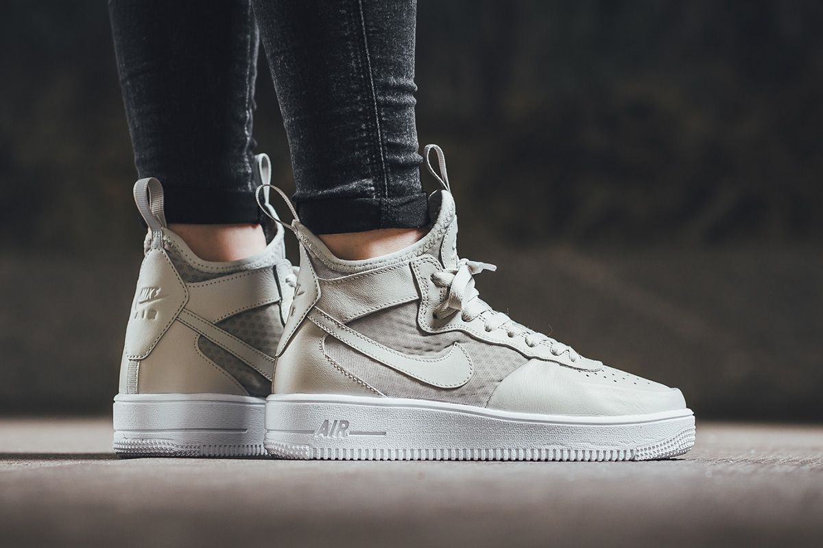 nike sportswear air force 1 ultra force mid - sneaker high heels