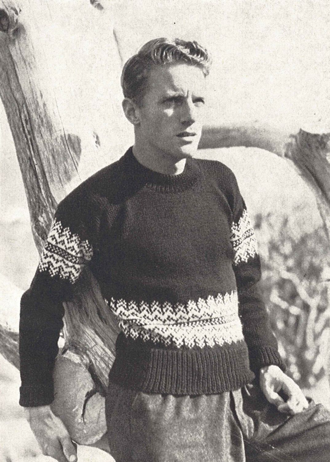 Nordique sweater 1950s knitting ski top jumper knitted pullover nordique sweater 1950s knitting ski top jumper knitted pullover 50s vintage vogue pattern bankloansurffo Choice Image