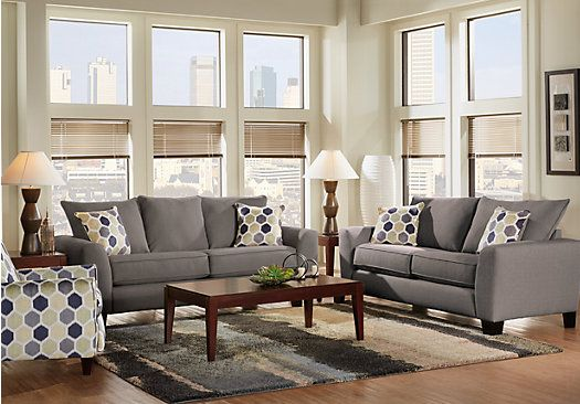 Picture Of Bonita Springs 8 Pc Gray Living Room From Living Room Cool Living Rooms Sets Decorating Inspiration