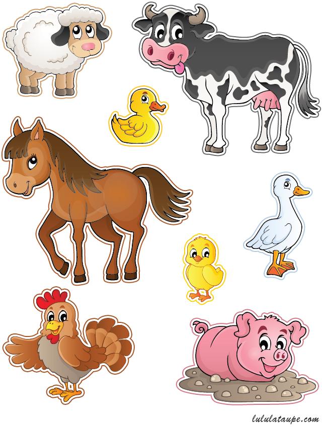 D coupage gratuit imprimer des animaux de la ferme - Photo d animaux a imprimer gratuitement ...