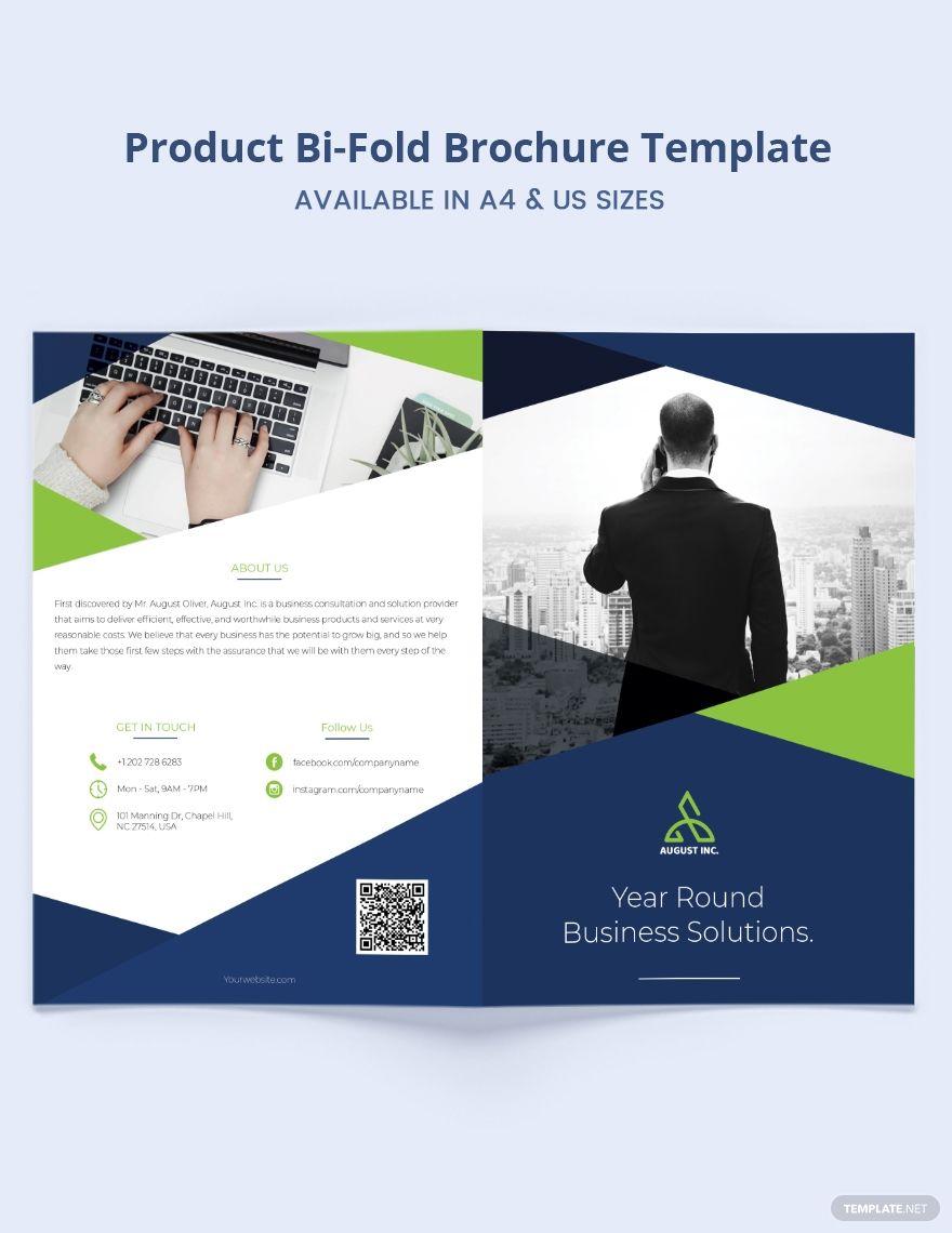 Product Promotion Bi Fold Brochure Template Word Psd Apple Pages Publisher Bi Fold Brochure Brochure Brochure Template