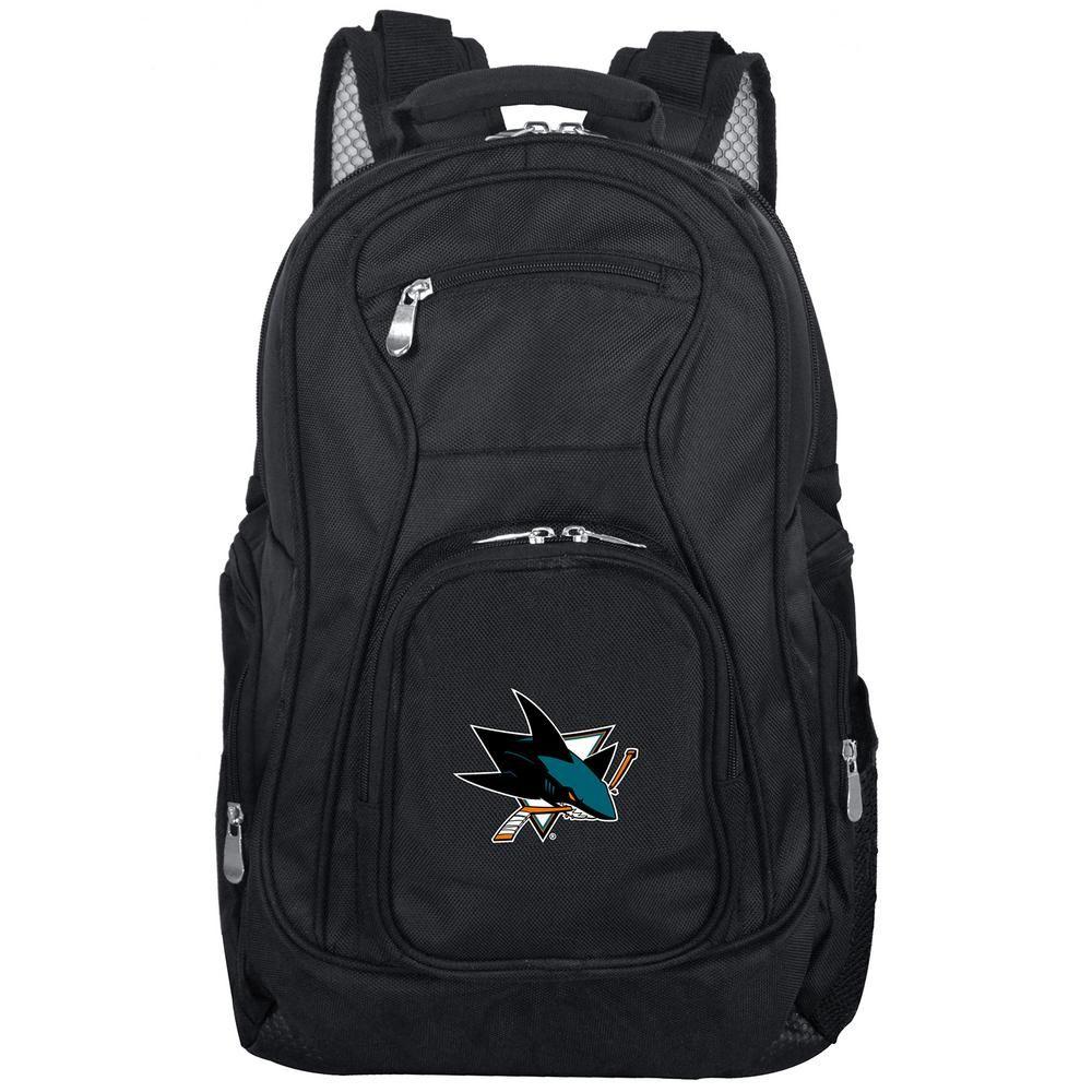 Denco NHL San Jose Sharks Laptop Backpack, Black Laptop
