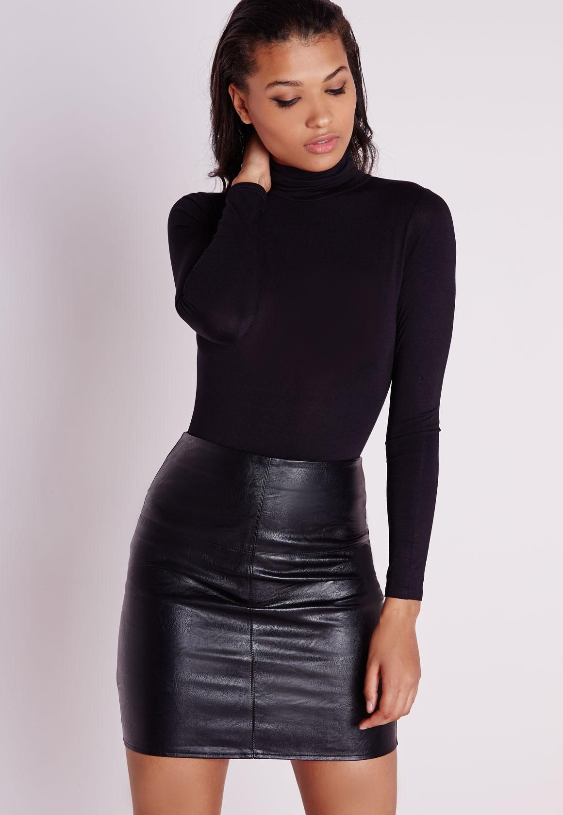 new specials pick up select for latest Petite Black Faux Leather Mini Skirt | Fashion in 2019 ...