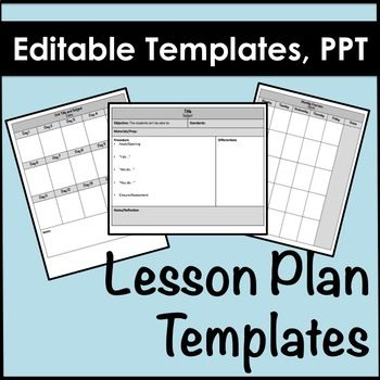 Lesson Plan Templates In Powerpoint Editable  Lesson Plan