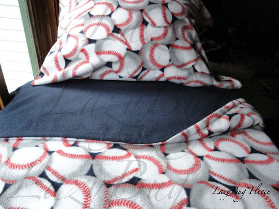 Baseball Dreams For Boys Cozy Fleece Bedding Fits Cribs Toddler Beds
