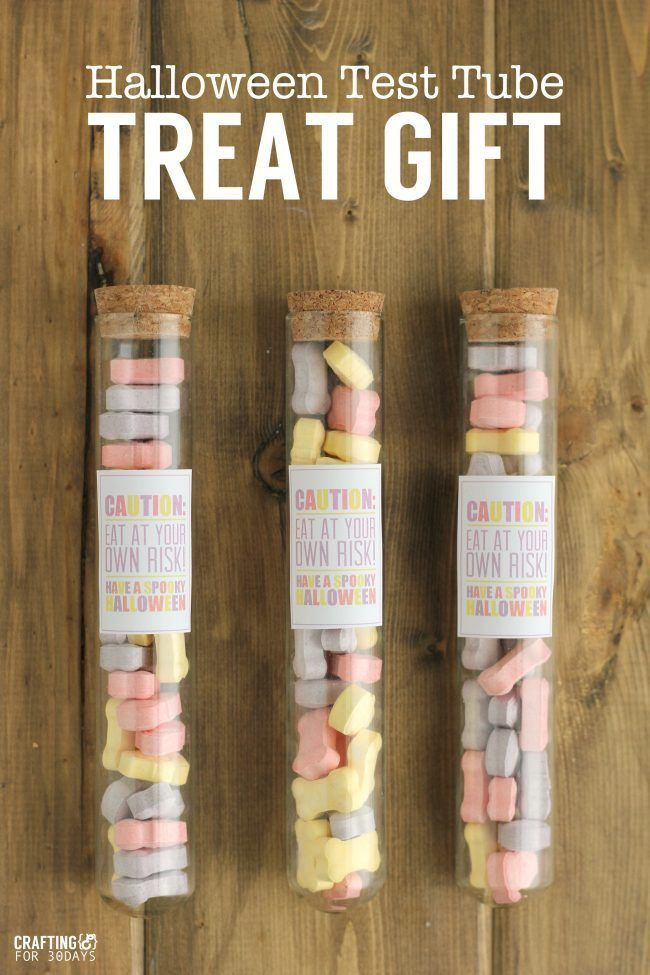 Halloween Gift Idea: Test Tube with Printables - so cute for Halloween!