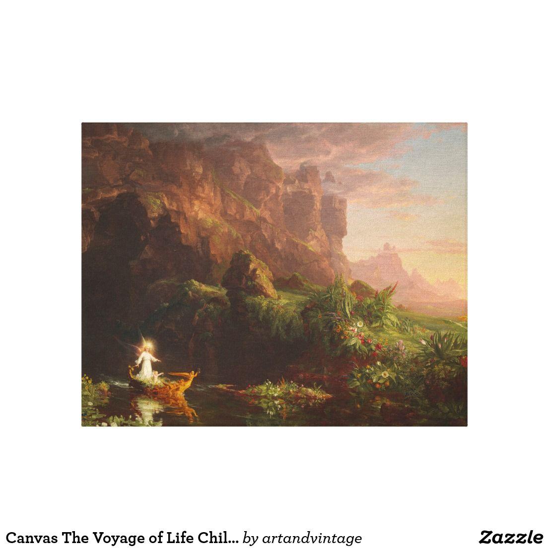 Canvas Voyage Of Life Childhood Thomas Cole Christmas & Birthday Peintre Art