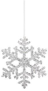 Wonderful snowflake ornament, Shishi As Glitter snowflake Christmas ornament